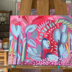 Photo of a painting by Australian artist Claire Phillips titled Suprise