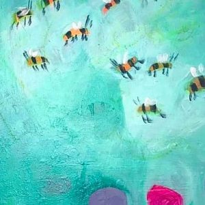 BEES 🐝 KNEES & other stories Painting by artist Claire Phillips