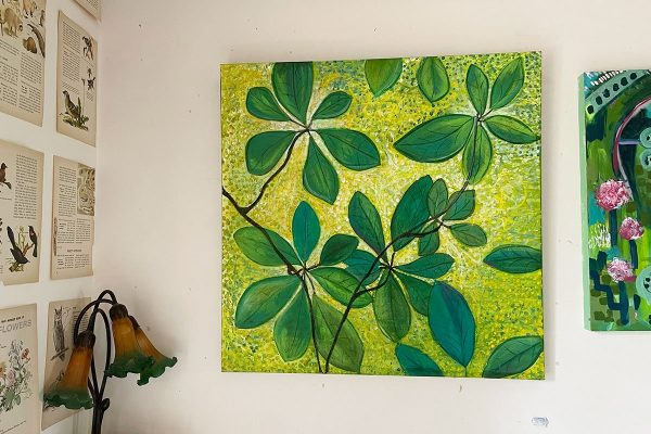 Photo of a painting by Australian artist Claire Phillips titled Green Day