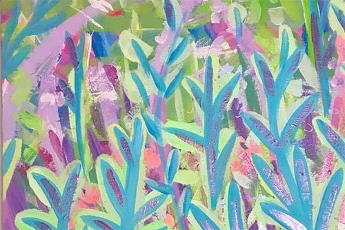 Photo of a painting by Australian artist Claire Phillips titled Hide and Seek