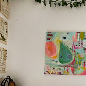 Photo of a painting by Australian artist Claire Phillips titled Home Grown