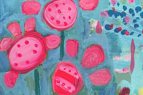 Photo of a painting by Australian artist Claire Phillips titled Ice Cream Days 1