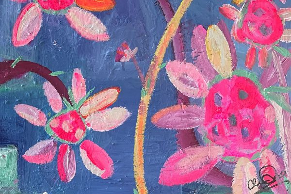 Photo of a painting by Australian artist Claire Phillips titled Spring